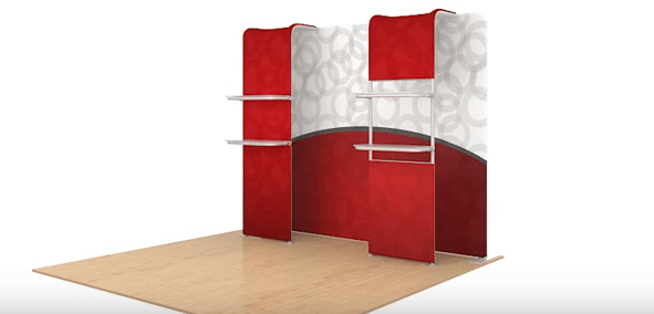 Portable Exhibit with Shelves 5