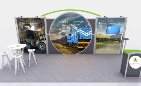 Tunnel Hill's Custom 10x20 Booth