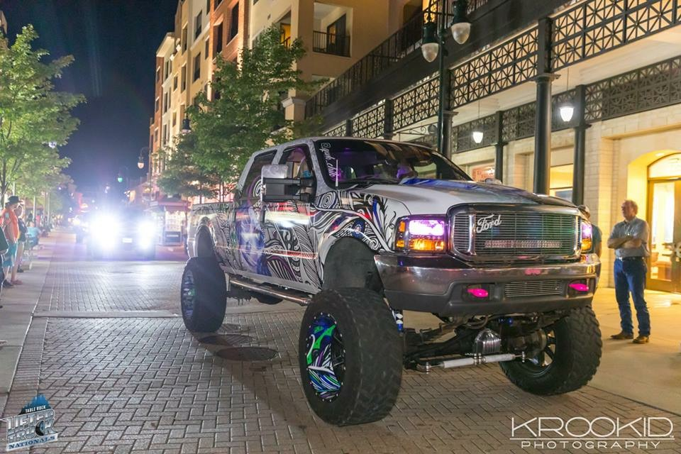 KG truck at Lifted Truck Nationals Branson Landing Cruise 2018