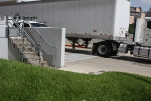 FloodBreak Vehicle Gates provide flood protection and full access to the facility