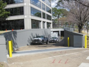 FloodBreak Vehicle Gates provides permanent flood protection and full vehicle access
