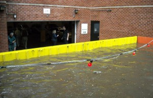 The Kensington Gate garage was saved from street flooding only months after the installation of a FloodBreak Vehicle Gate