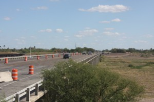 IBWC levees along the Floodway were raised to meet new FEMA elevation and Roadway Gates were used across US 83 instead of raising the bridge