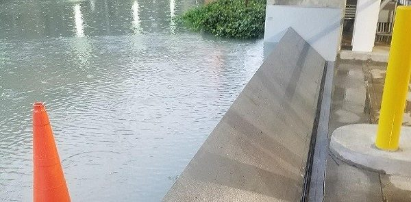 Saved Again. Houston Building Protected from Harvey Flooding