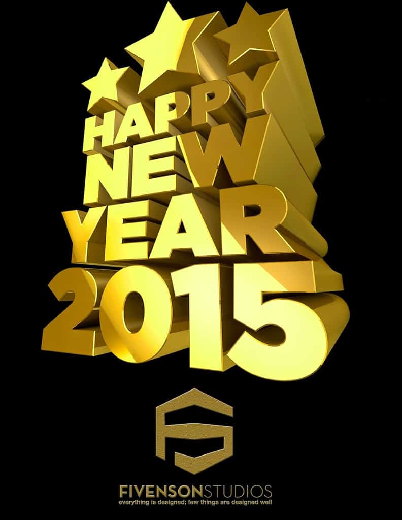 Happy New Year! From Fivenson Studios!