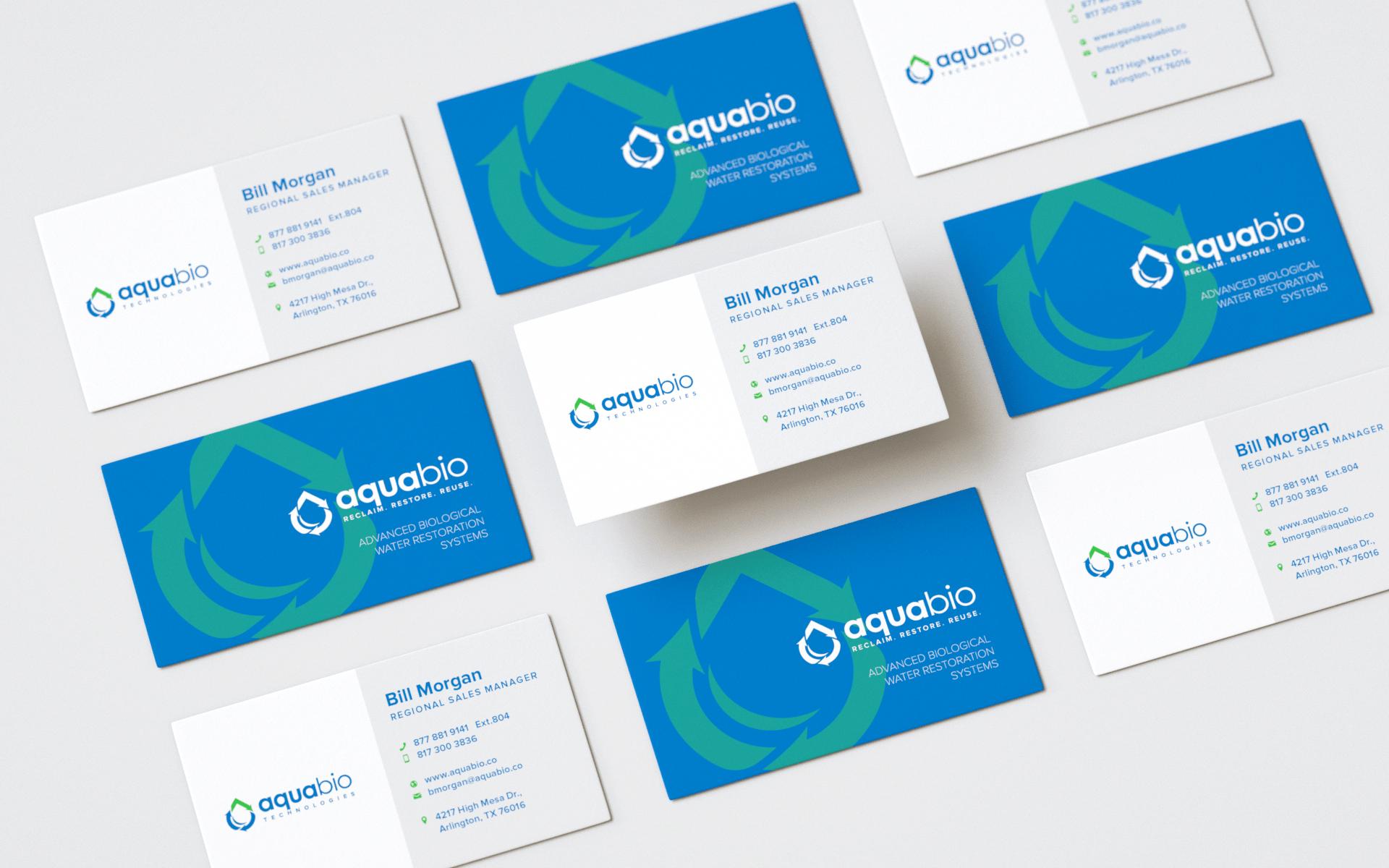 AQUA BIO TECHNOLOGIES BUSINESS CARD DESIGN