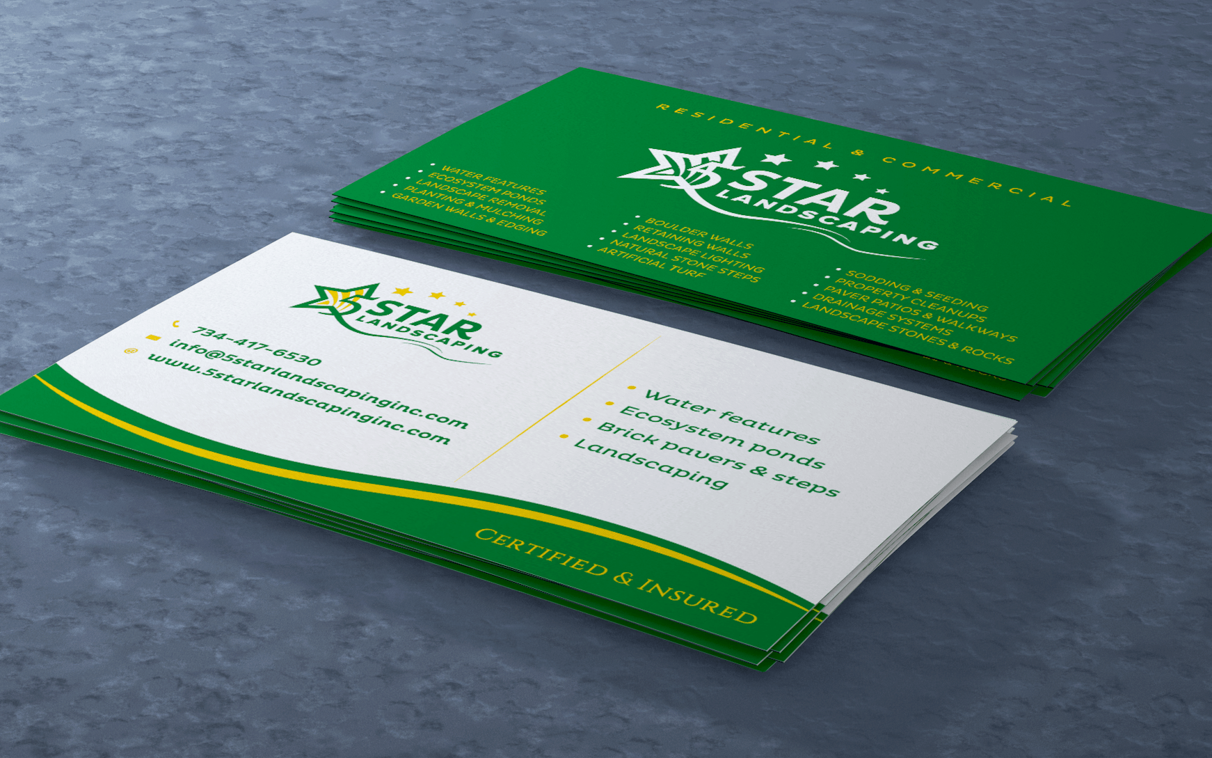 5STAR LANDSCAPING BUSINESS CARD