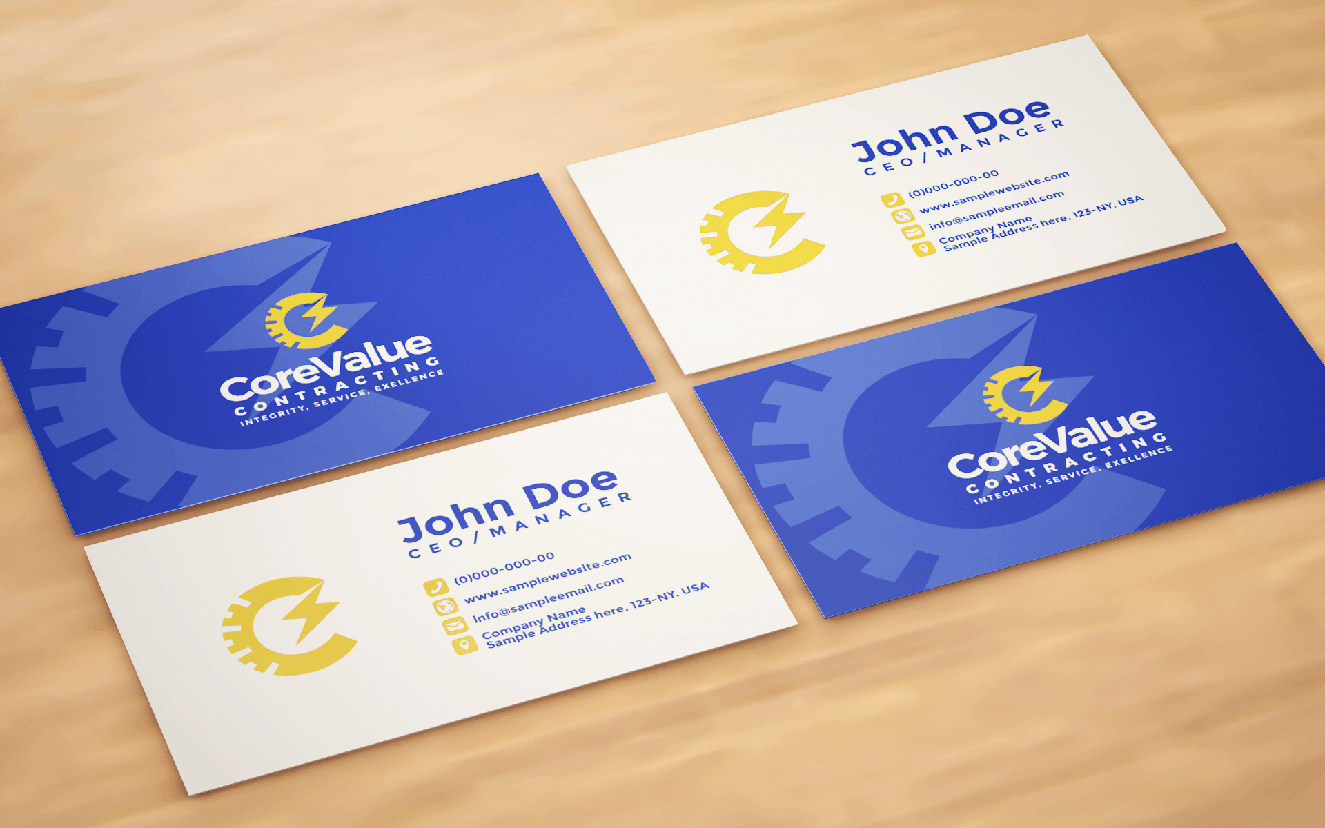 CORE VALUE CONTRACTING BUSINESS CARD