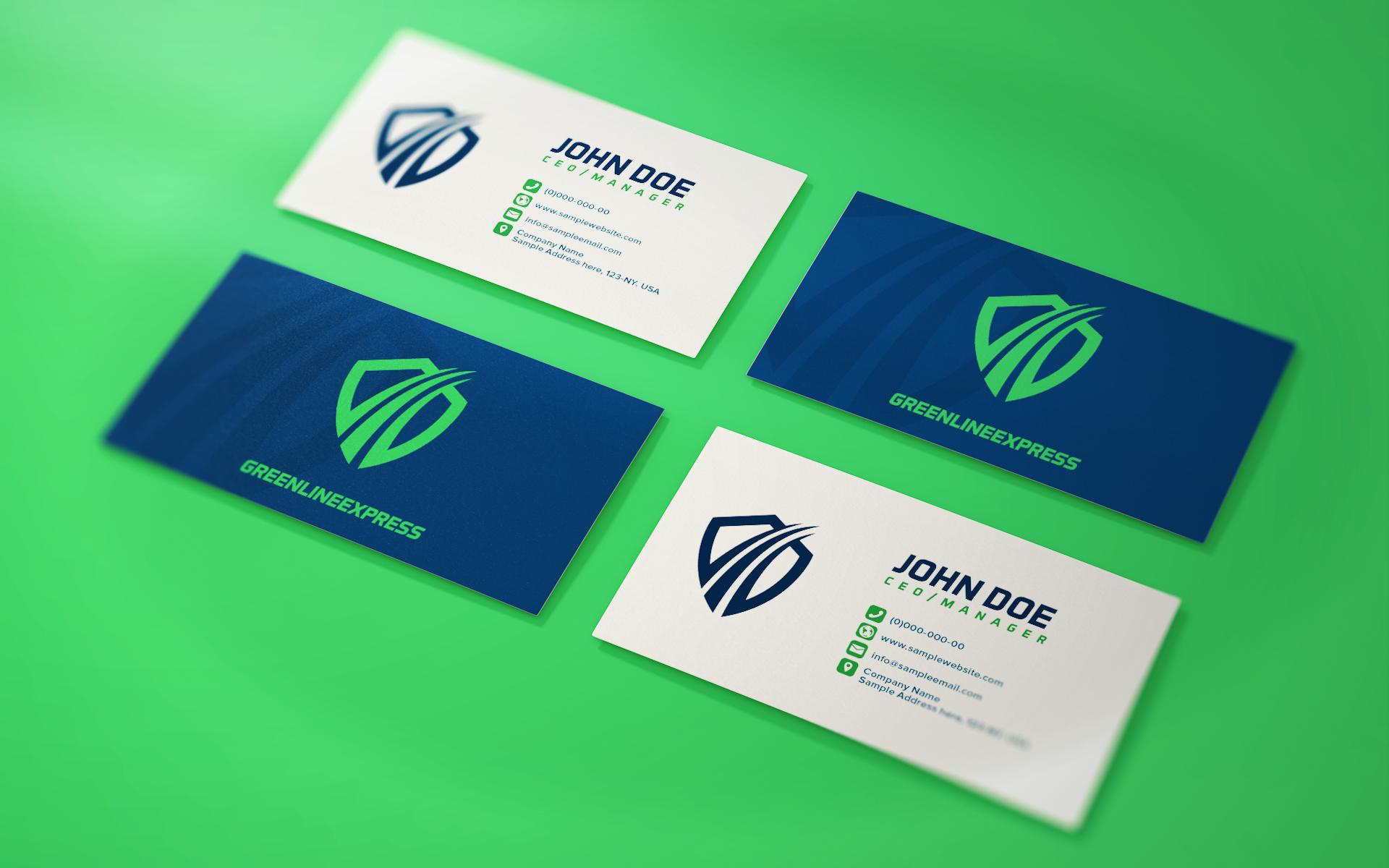 GREENLINE EXPRESS BUSINESS CARD DESIGN