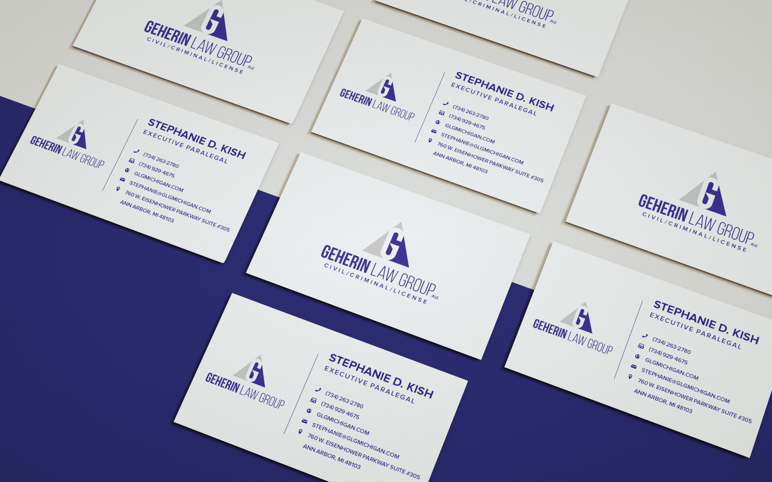 GEHERIN LAW GROUP IDENTITY BUSINESS CARD