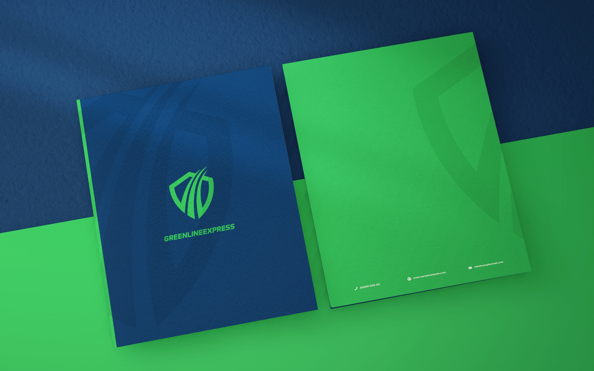 GREENLINE EXPRESS FOLDER DESIGN