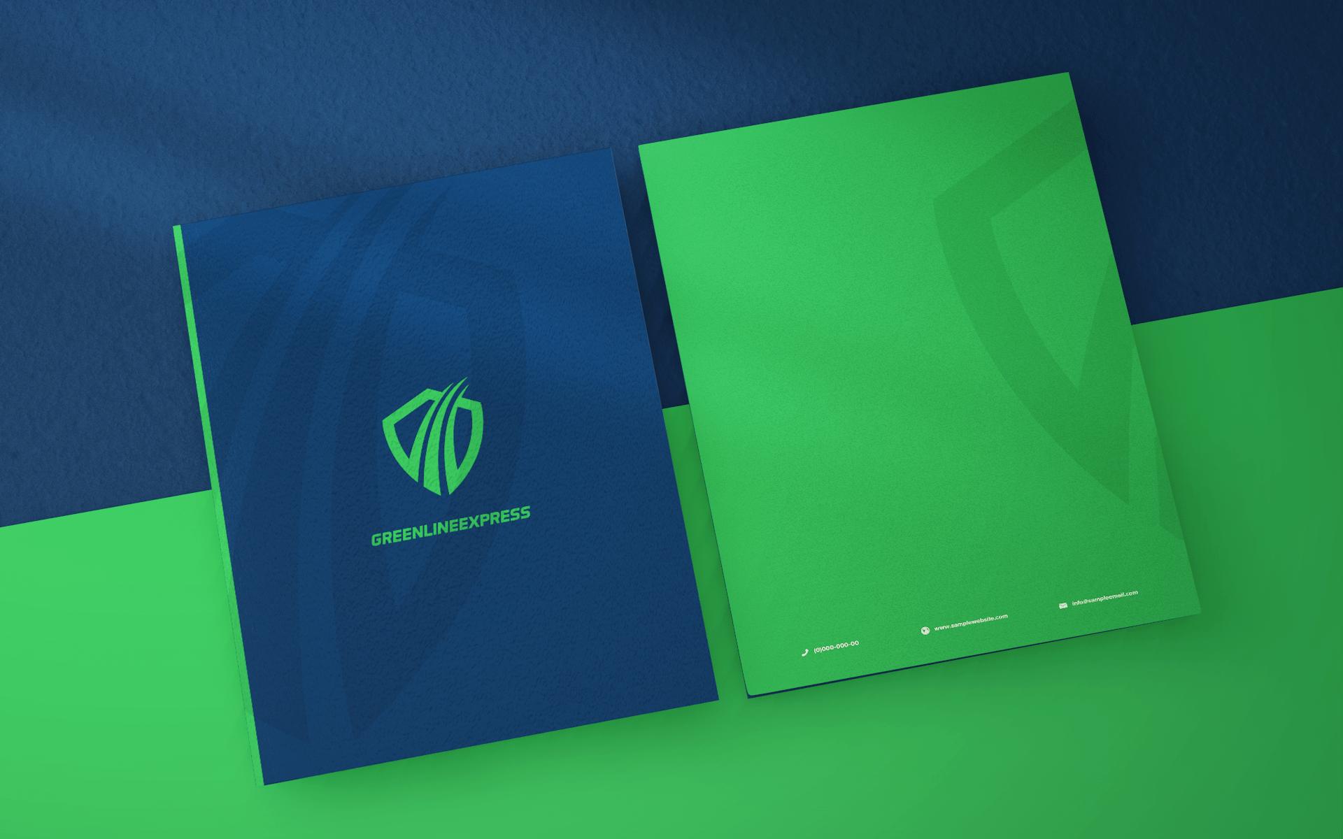 GREENLINE EXPRESS FOLDER DESIGN