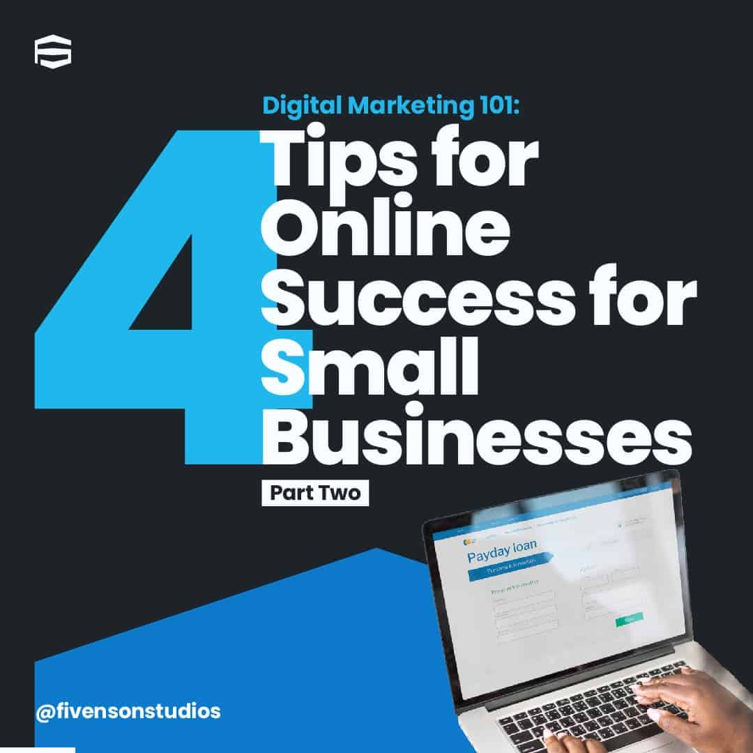 4 TIPS FOR ONLINE SUCCESS FOR SMALL BUSINESS 1