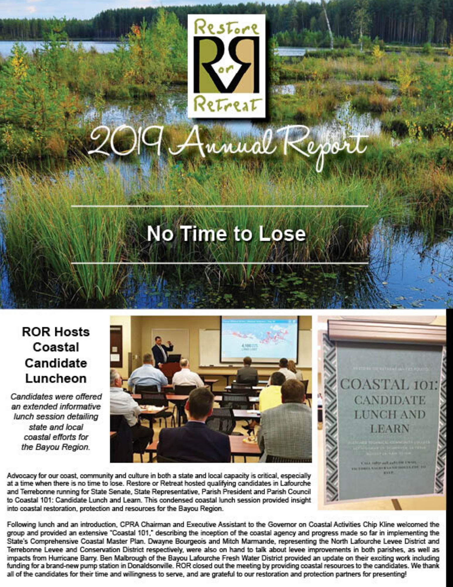 ROR's 2019 Annual Report