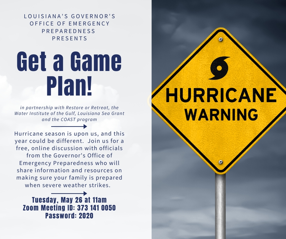 Get a Game Plan Hurricane Preparedness Webinar