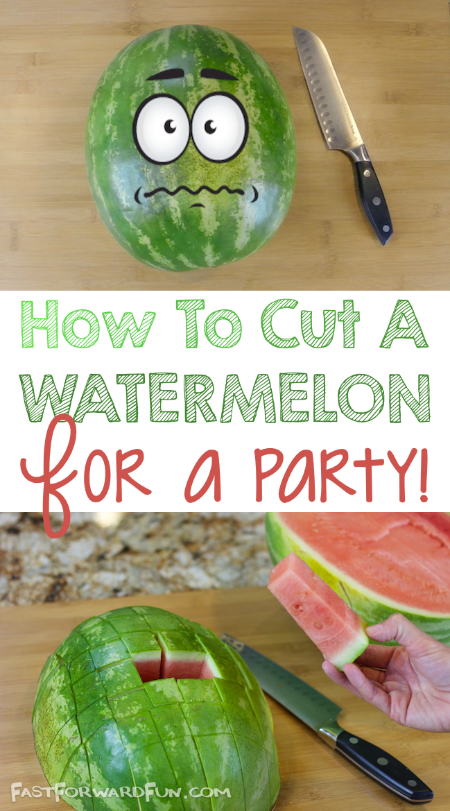 A better way to cut a watermelon for a crowd! {Funny Video Tutorial}