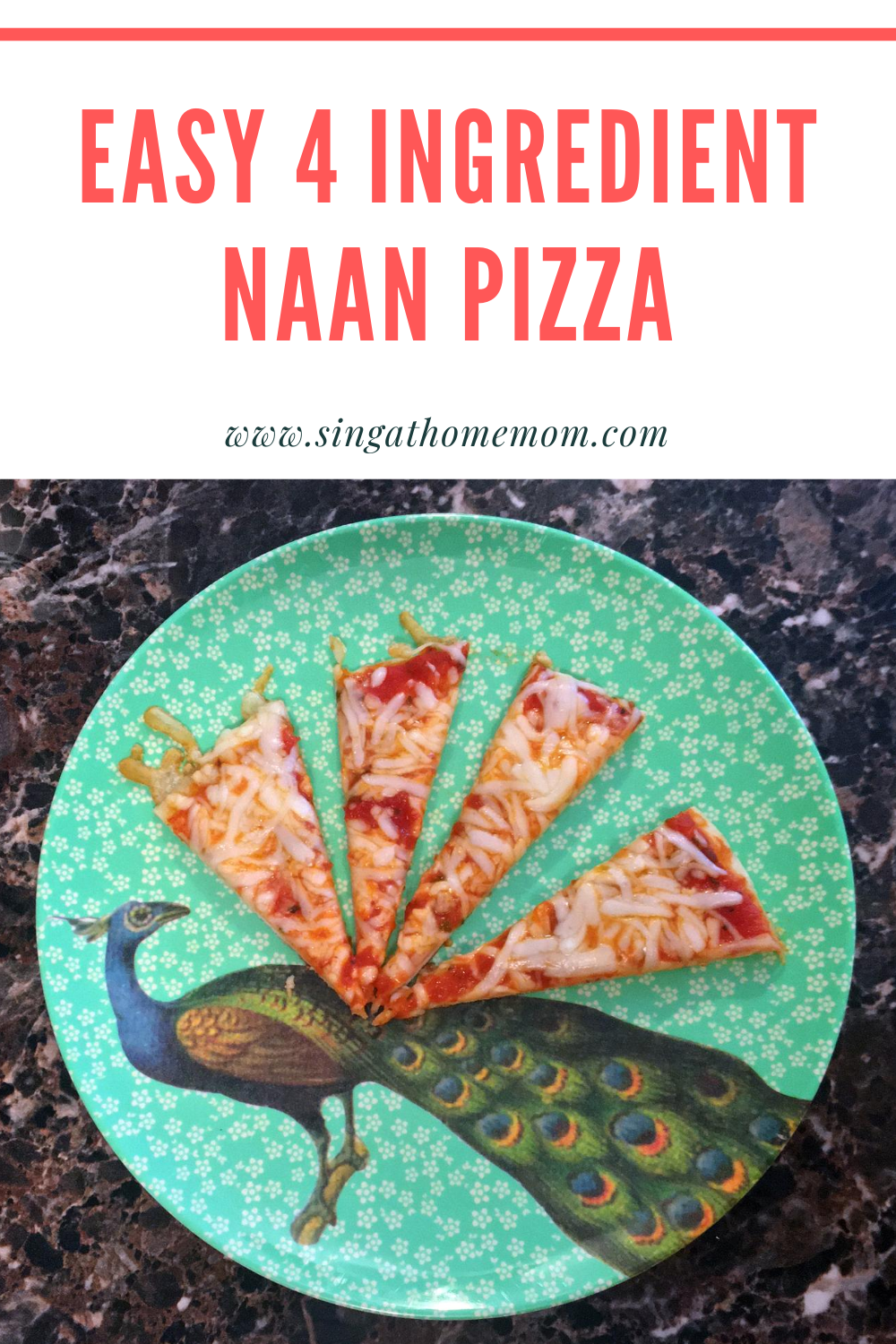 Need a quick and easy recipe that the kids will LOVE? Try this 4 ingredient one pan pizza recipe using naan bread!
