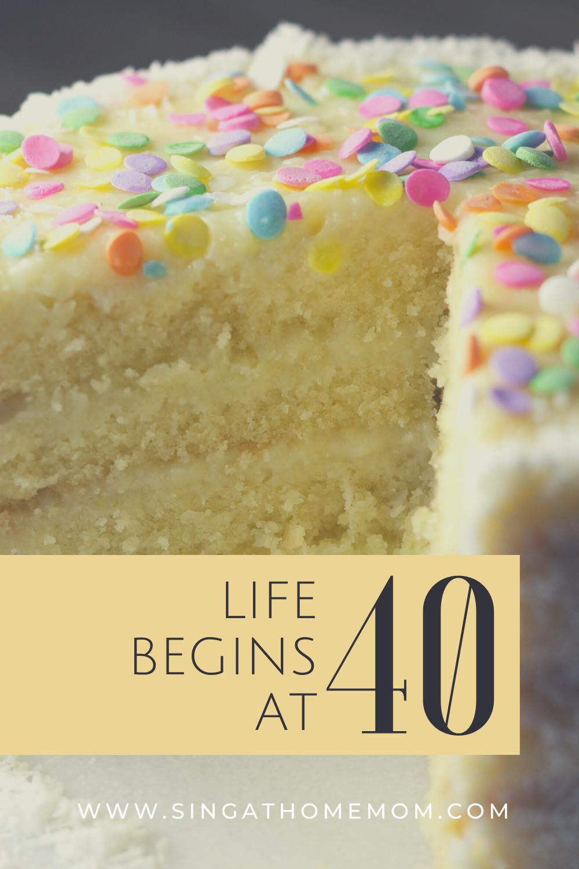 life begins at 40