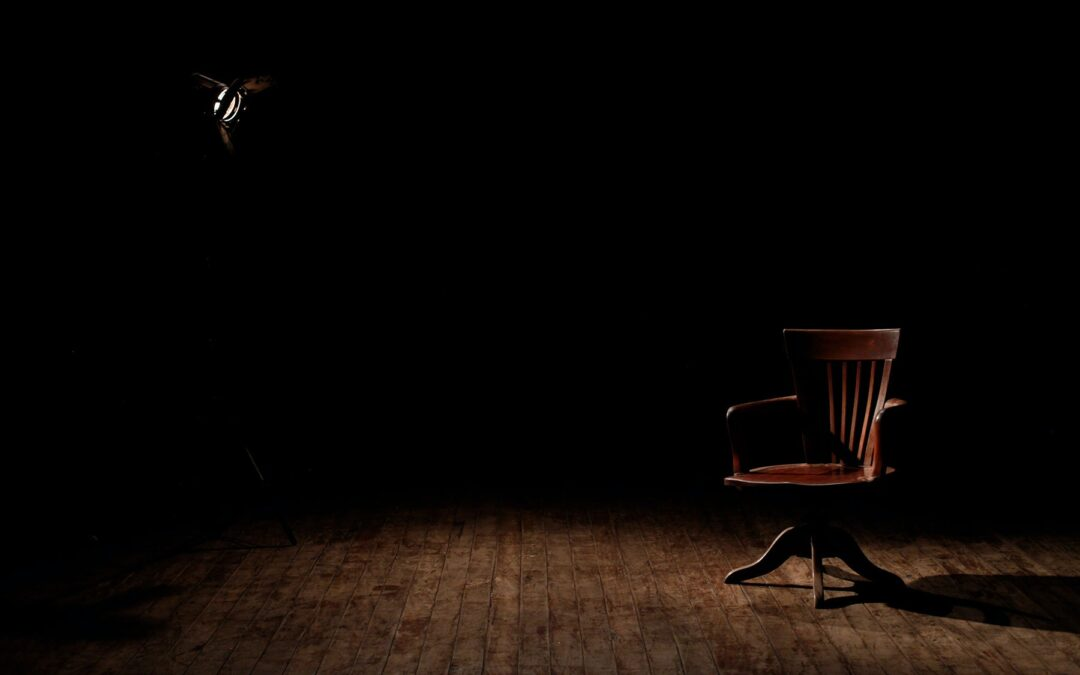 empty stage with chair