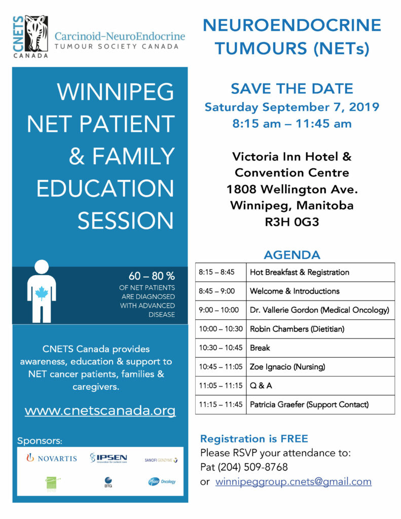 WINNIPEG NET PATIENT EDUCATION SESSION @ Victoria Inn Hotel & Convention Centre