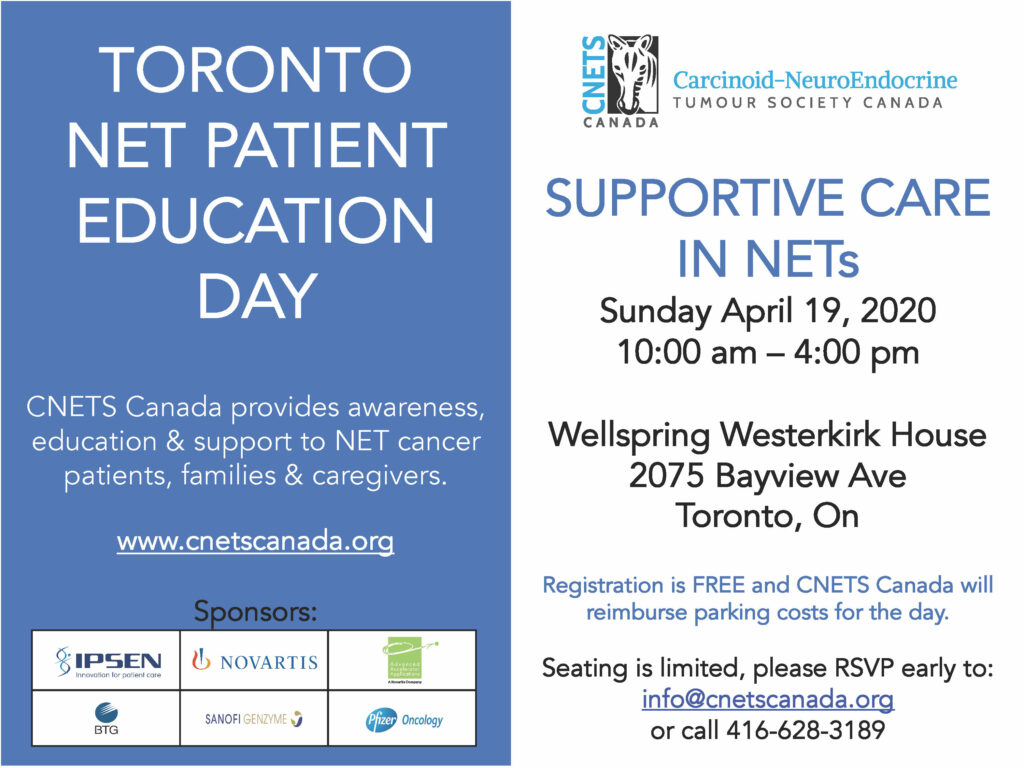 Supportive Care in NETs - Toronto PED @ Wellspring Westerkirk House
