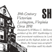 sketch of the Sheridan house