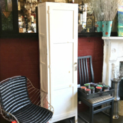refurbished white cabinet