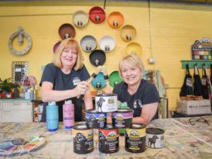 Teachers of Black Dog Salvage's furniture paint classes