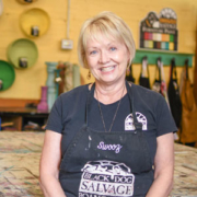 "Susan ""Swooz"" Hudson, Black Dog Salvage's furniture paint expert"