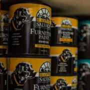 cans of Black Dog Salvage furniture paint