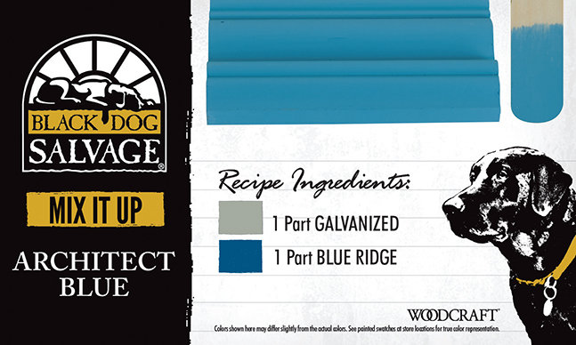 """""""Architect Blue"""" is made from 1 Part """"Galvanized"""" and 1 Part """"Blue Ridge"""""""