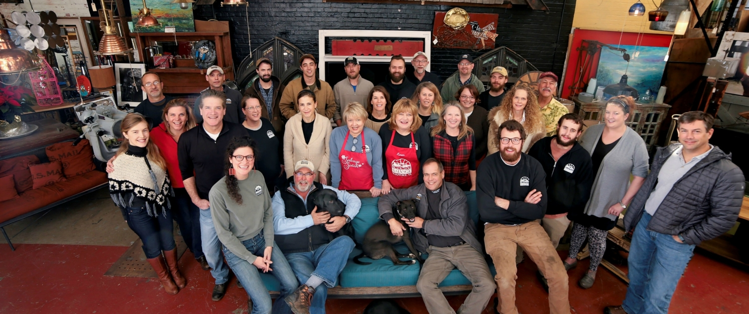 all of the staff that work at Black Dog Salvage