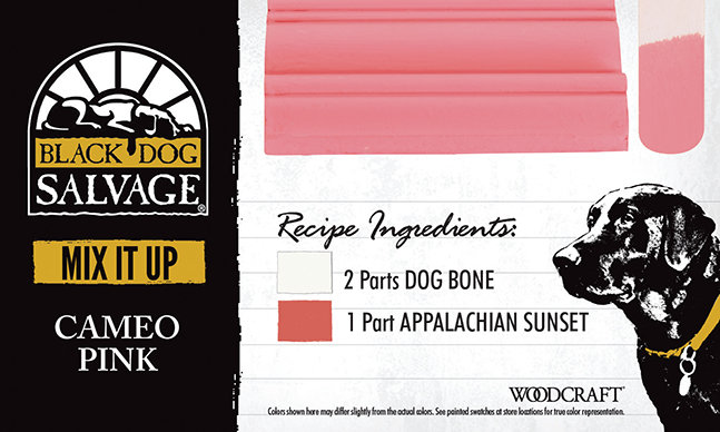 """Cameo Pink"" is made from 2 Parts ""Dog Bone"" and 1 Part ""Appalachian Sunset"""