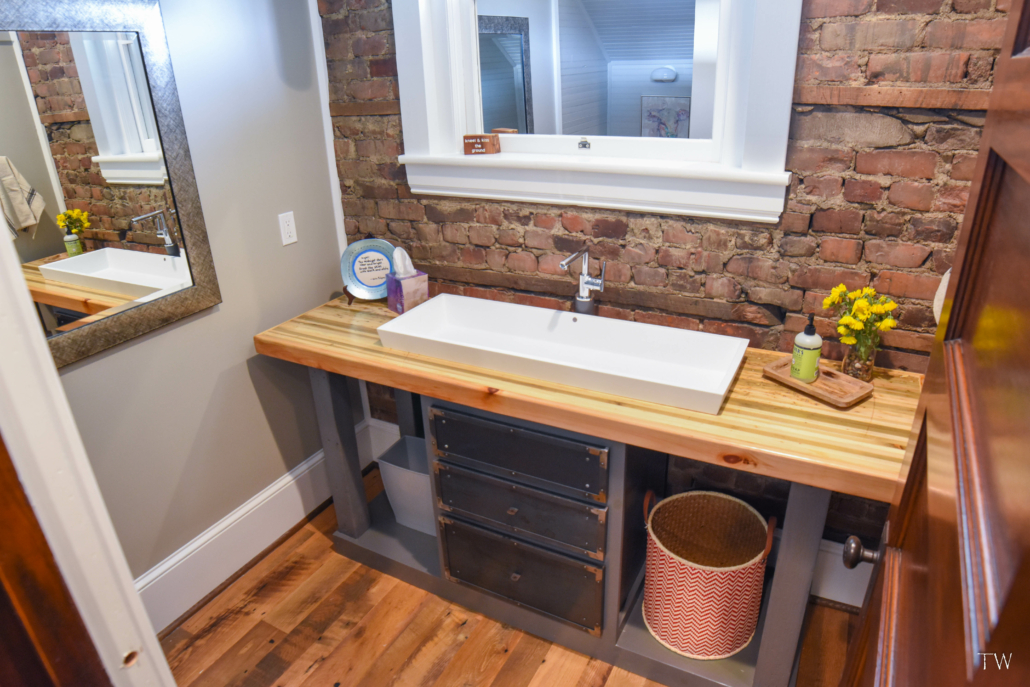 bathroom with sink at the Stone House