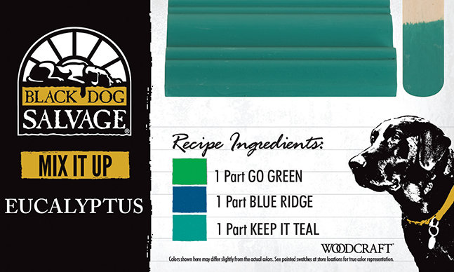 """""""Eucalyptus"""" is made from 1 Part """"Go Green,"""" 1 Part """"Blue Ridge,"""" and 1 Part """"Keep It Teal"""""""