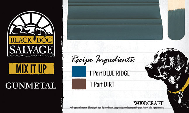 """""""Gunmetal"""" is made from 1 Part """"Blue Ridge"""" and 1 """"Part Dirt"""""""