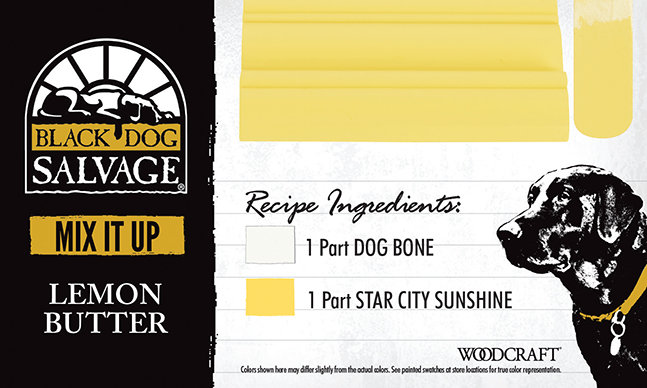 """Lemon Butter"" is made from 1 Part ""Dog Bone"" and 1 Part ""Star City Sunshine"""