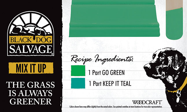 """""""The Grass is Always Greener"""" is made from1 Part """"Go Green"""" and 1 """"Part Keep It Teal"""""""