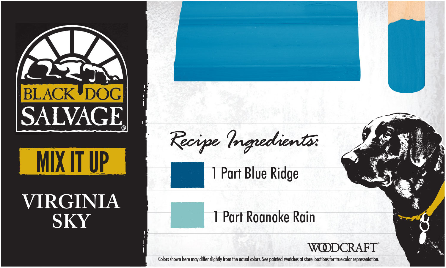 """""""Virginia Sky"""" is made from1 Part """"Blue Ridge"""" and 1 Part """"Roanoke Rain"""""""