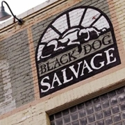 Black Dog Salvage building sign