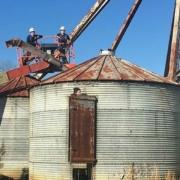large metal silos