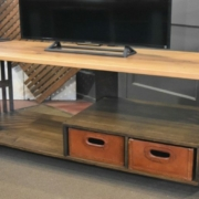 a console made from architectural salvage