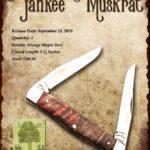 Tuna Valley Cutlery Gallery - 2018 Yankee Muskrat - Orange Maple Burl