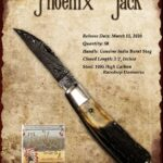 Tuna Valley Gallery - 2020 Phoenix Jack in Burnt Stag and Damascus blade