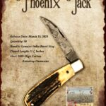 Tuna Valley Gallery - 2020 Phoenix Jack in Burnt Stag with Raindrop Damascus