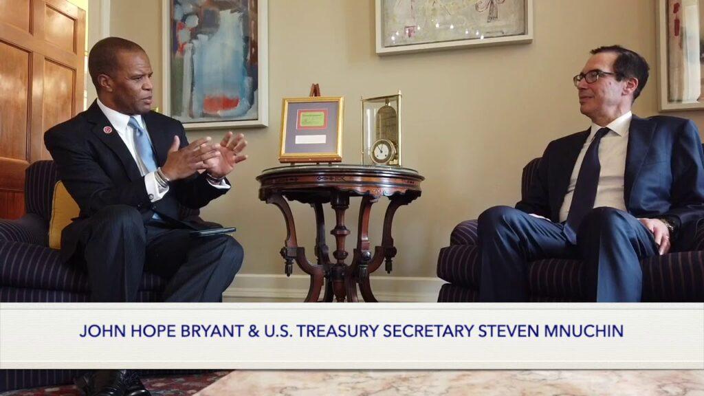 US Treasury Secretary Mnuchin and HOPE Founder John Hope Bryant Speak on Freedman's Bank Legacy
