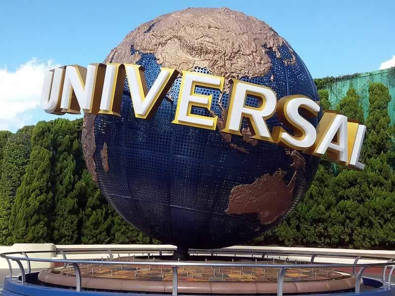 parque universal studios globo giratório