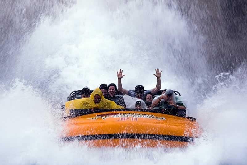atração com água no parque Universal Studios em orlando