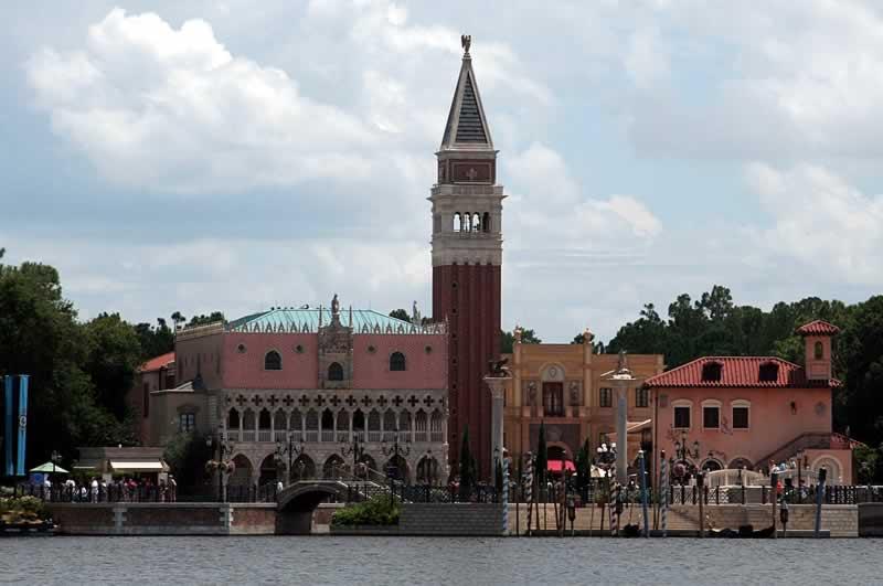 arquitetura do pavilhão da itália no epcot