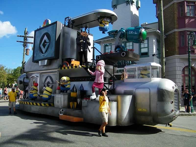 character party zone meu malvado favorito desfile universal studios